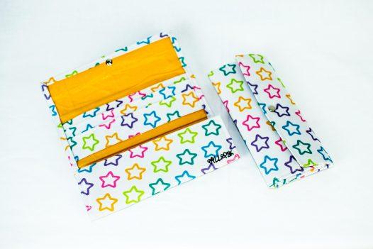 Billetera Juvenil Estrellas Blancas