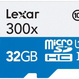 Memoria MicroSD Lexar 300x De 32GB Con Adaptador Incluido Clase 10 Para Android