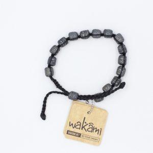 Pulsera Wakami RAD Negro/Plateado