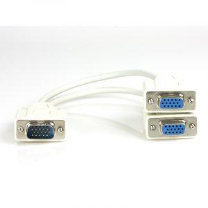 Splitter VGA  macho a conectores hembra doble