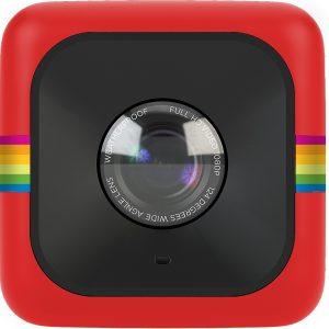 Cámara de acción Polaroid cube roja
