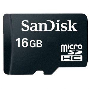 Memoria MicroSD SanDisk 16GB Clase 4 Para Android