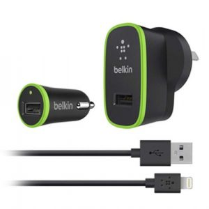 Cargador Para Iphone Belkin de Pared y Carro Con Cable Lightning