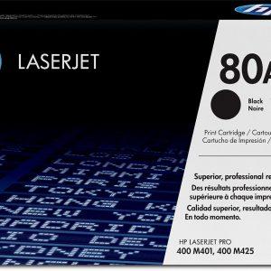 Toner HP 80A Negro para Impresora LJP400