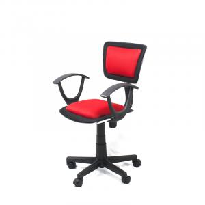 Silla Secretarial Roma con Apoyabrazos marca Xtech color Rojo