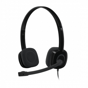 Audífonos Logitech H151 micrófono y control de volumen negro