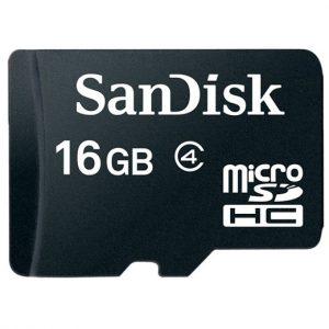 Memoria MicroSD SanDisk 16GB Con Adaptador Clase 4 Para Android