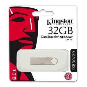 Memoria USB Kingston DT SE9 32GB Color Plateado