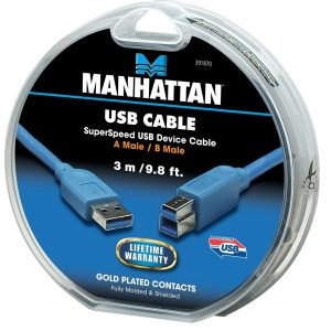 Cable Manhattan USB 3.0 macho a B-micro macho 3mts