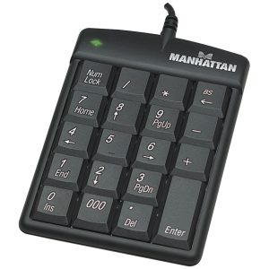 Teclado númerico Manhattan USB 19 teclas