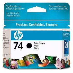 Cartucho original Hp 74 negro