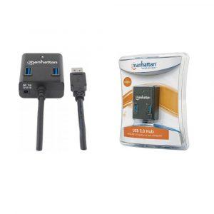 Hub USB Manhattan 4 puertos USB 3.0