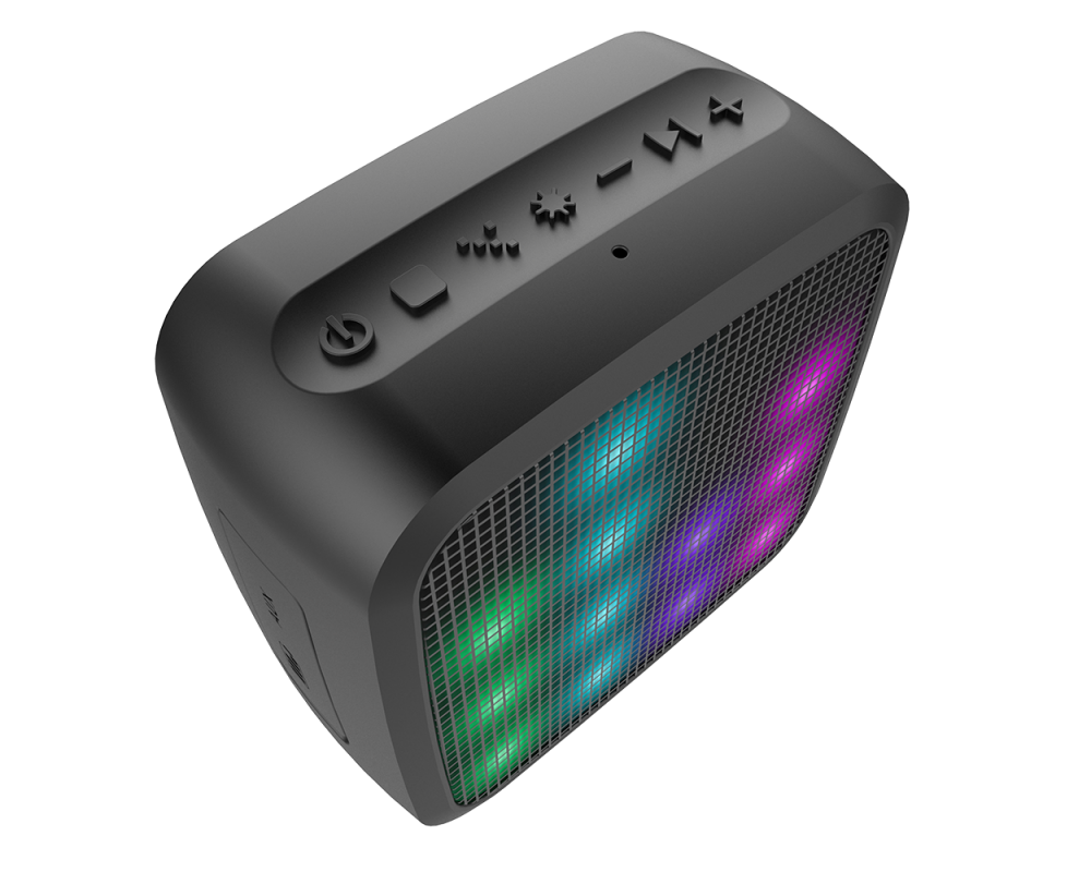 Bocina Jam Trance Mini Bluetooth Con Luces Led K 233 Mik