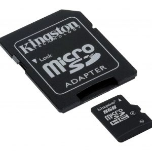 Memoria MicroSD Kingston 8GB Con Adaptador Clase 4 Para Android