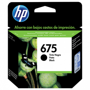 Cartucho original Hp 675xl negro