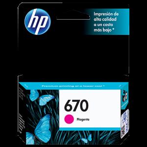 Cartucho HP 670 Magenta