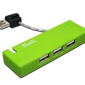Hub Klip Xtreme KUH-400G USB 2.0 verde