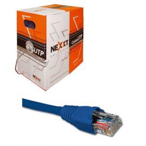 Cable Patch Cat5e Nexxt de 7 Pies Azul