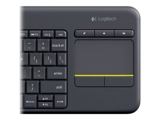 Teclado Inalámbrico Logitech K400 Plus color negro
