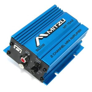 Amplificador Mitzu 2X150 Azul 500 watts