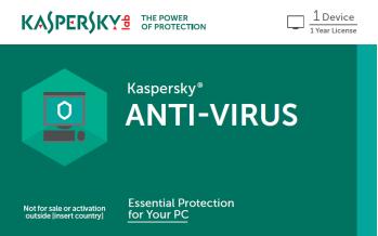 Antivirus Kaspersky Para 1 Usuario Por 1 Año. OEM Solo con Equipo Nuevo