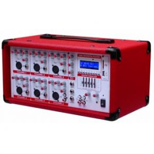Consola Kaiser 6 Canales, Usb, Sd 1600W C/ Rojo