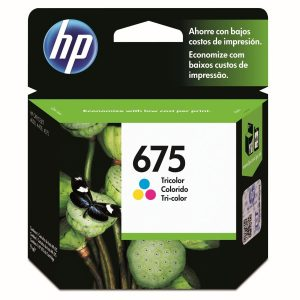 Cartucho original Hp 675 tricolor