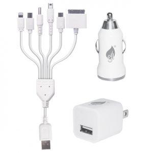 Adaptador USB Green Leaf 12V/110V para celulares y tablets