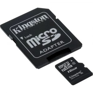 Memoria MicroSD Kingston 16GB Con Adaptador Clase 4 Para Android