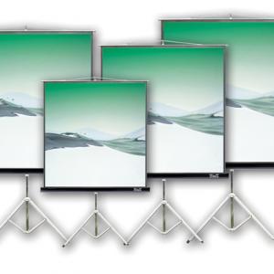 """Pantalla de proyector Klip Xtreme KPS-102 de 86"""" Con trípode Color blanco"""