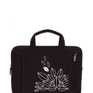 "Funda Green Leaf Para Notebook De Hasta 10"" Negro"
