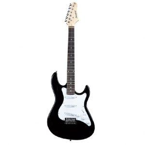 Guitarra eléctrica Strinberg negra tipo estratocaster