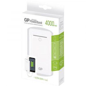 Batería portátil gp 4,000 mah ultra delgada blanco