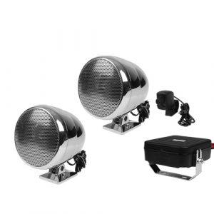 Amplificador Y Bocinas P/ Moto Audiopipe