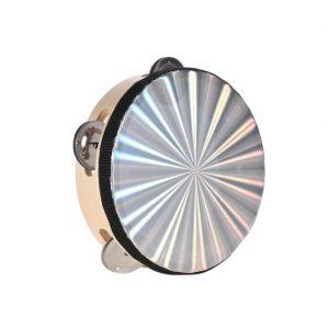 Pandero Zebra 10'' Diamantado Color Original