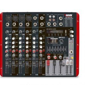 Consola amplificada Novik 300W 8 canales MP3/USB 4 OHMS 16 efectos