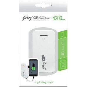 Batería portátil GP 4200 mah blanco