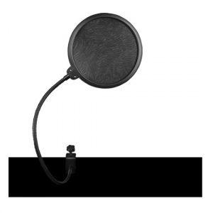 Protector anti-pop Zebra para micrófono cuello de ganso