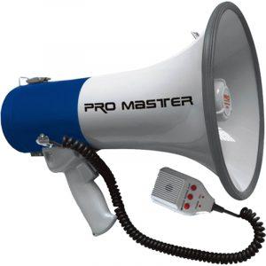 Megafono Pro-Master 50W con grabadora