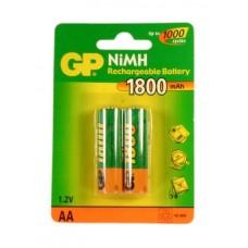 BATERIA GP NiMH RECARGABLE AA 1800 CARTON 2 piezas