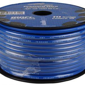 Cable Audiopipe Primario Cal. 10 Azul 100'