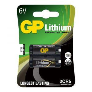 BATERIA GP LITIO 2CR5 BLISTER 1PC