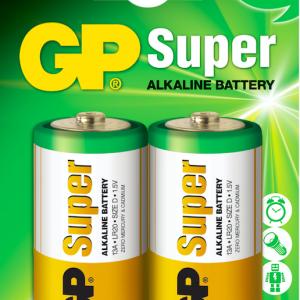 Bateria GP Super Alkalina D 1.5V Carton 2 piezas