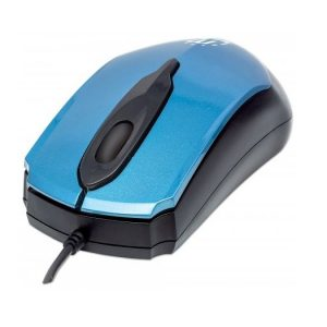 Mouse Alambrico Manhattan Color Azul