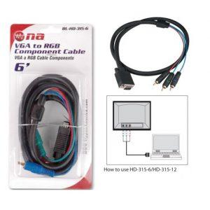 Cable Nippon America  VGA a 3 RCA en blister