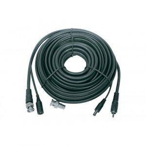 Cable Nippon America Coaxial + Voltaje P/ CCTV 25'