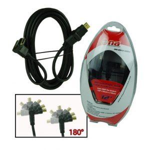 Cable HDMI Nippon America  macho a macho 12' giratorio