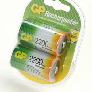 Bateria GP NiMH recargable D 200mAh carton 2 piezas