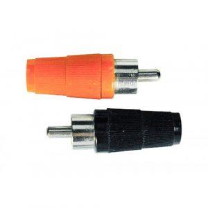 Plug RCA  Rojo/Negro Bolsa 50 Pares