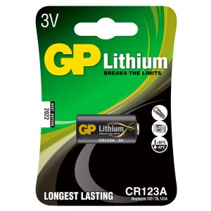 Bateria GP litio CR123A Blister 1PC
